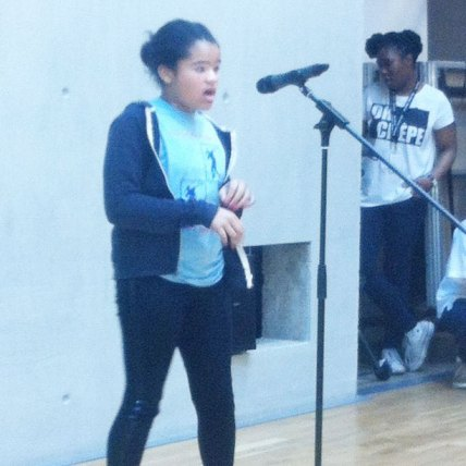 Lauren winning the singing competition